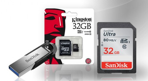 Geheugenkaarten en USB flash drives